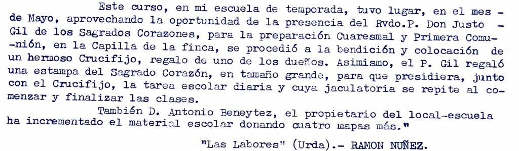 Informe de D. Ramón Núñez (Urda)